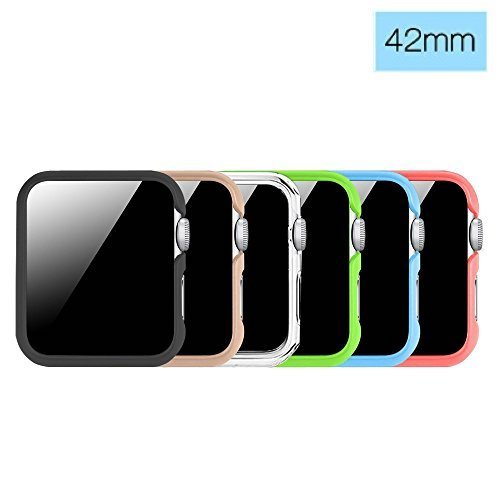 ClockChoice 42mm Premium Polycarbonate Protective Bumper Cases in 6 Colorful Combination of Easy to Install Thin & Light Covers for Series 1, 2 & 3 Smartwatch Sure to Match Your - Mobile Buy Best Times Square