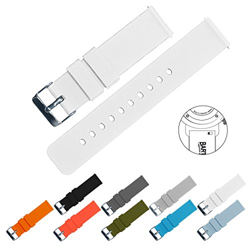 Barton Silicone Watch Bands - Quick Release Straps - Choose Color & Width - 16mm, 18mm, 20mm, 22mm or 24mm - Soft...