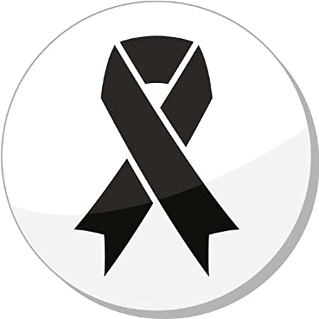 Black Ribbon Mourning Death Melanoma Symbol Car Bumper Sticker Decal