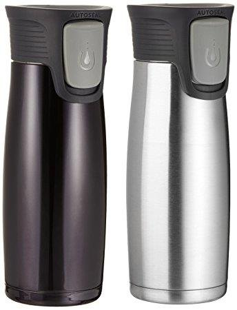 Contigo Astor Vacuum Insulated Autoseal Easy-Clean lid travel tumblers Stainless Steel & Black Matte Limited Edition Set