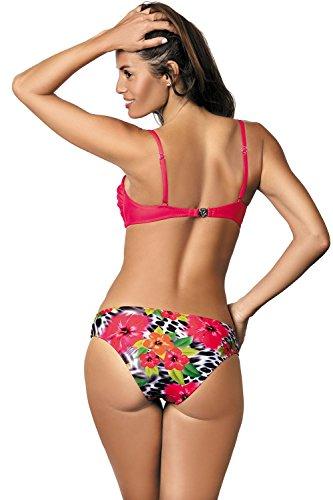 bikini completo Marko floreale imbottite fabbricato UE coppe Corallo in Pamela 421 drappeggiato M qIIwSaUt