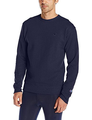 Champion Men's Powerblend Pullover Sweatshirt, Navy, Small