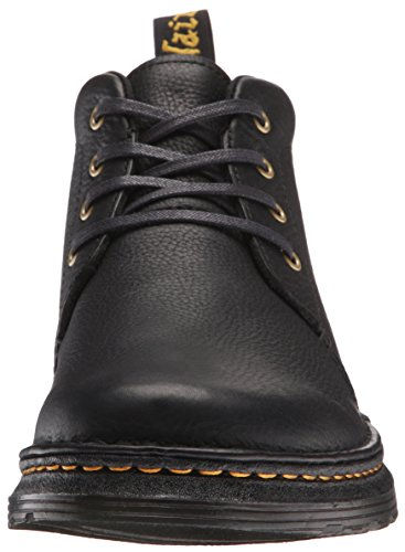 Dr.Martens Mens Lea Grizzly Leather Boots Noir