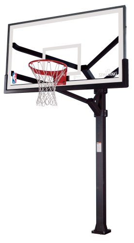 Spalding NBA Arena View H Frame In-Ground Basketball System - 72'' Aluminum H Framed Acrylic Backboard by Spalding