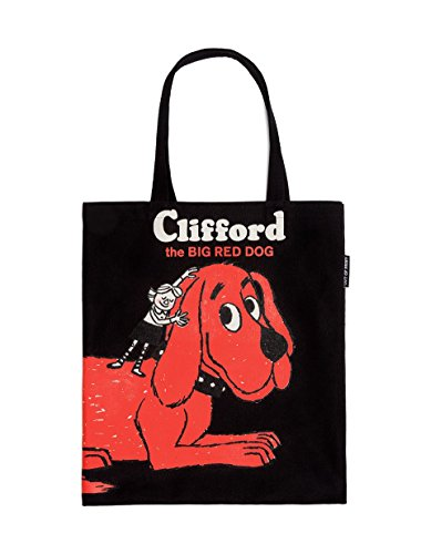Out of Print Clifford the Big Red Dog Tote Bag, 15 X 17 Inches
