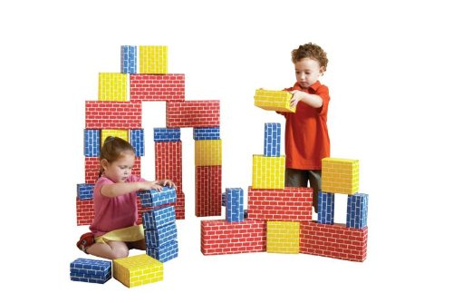 Childcraft Corrugated Blocks, Various Sizes, Primary Colors, Set of 36 by Child Craft