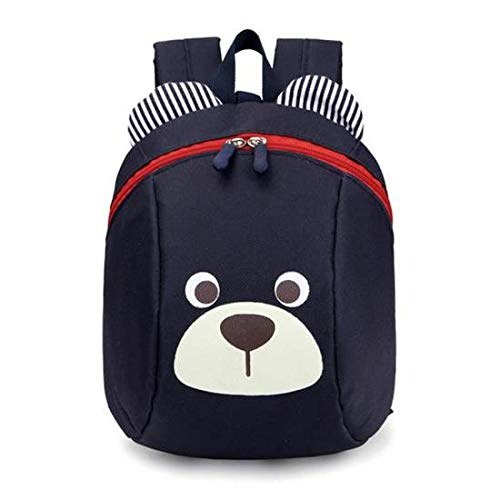 Sevenpring New Home Accessories Baby Harnesses Backpack Toddler Safety Harness Reins Kids Anti-Lost Strap Walker School Bag (Color : Navy Blue)