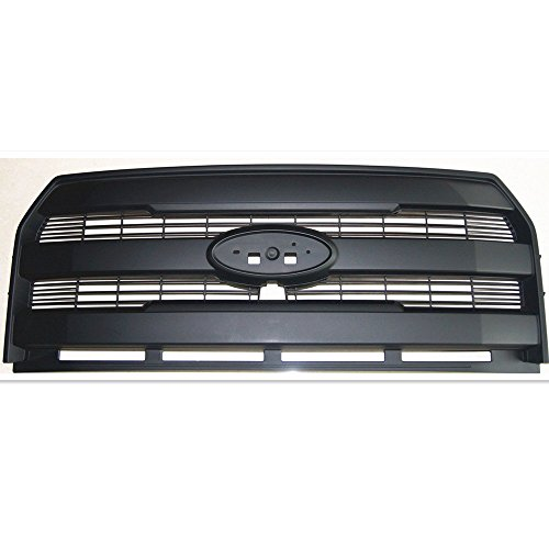 King Ranch Pickup - 15-16 FORD F150 KING RANCH STYLE BLACK Grill Grille Replace Pickup Truck (15-16 FORD F150 KING RANCH ABS FRONT Matte Grill Grille Replace Pickup)
