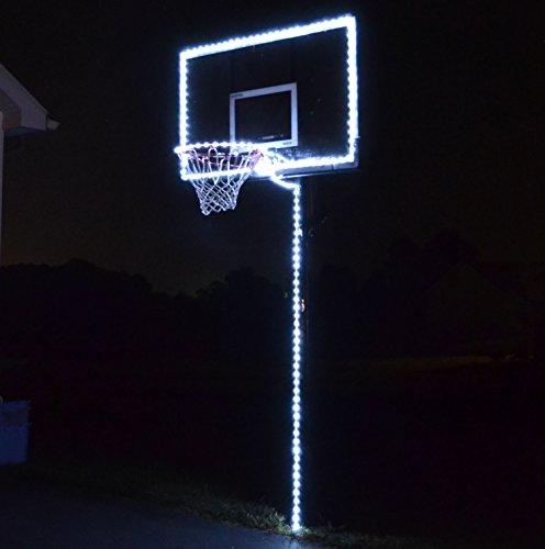 GlowCity Light Up Basketball Hoop Lighting kit(Light Up Basketball Not Inlcuded) (White)