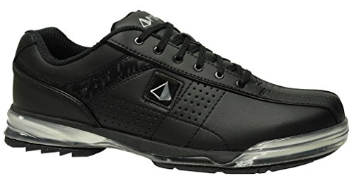 Bowling Shoes Soles (Pyramid Mens HPX Right Handed Bowling Shoes - Black/Black (9 D(M) US))