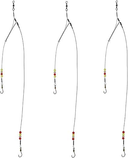 50 x Rollwirbel mit Angelschnur-Angelhaken zum Aufhängen W4X6