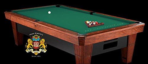 - Simonis Cloth 860 Pool Table Cloth - Standard Green - 7ft