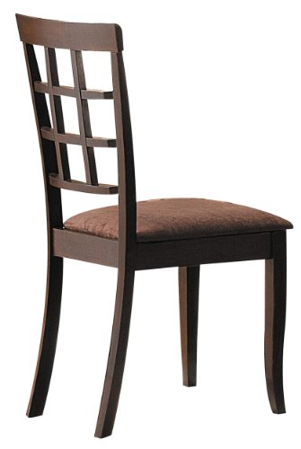 Espresso Finish Wood Side Chairs - ACME 06851 Set of 2 Cardiff Side Chair, Espresso Finish