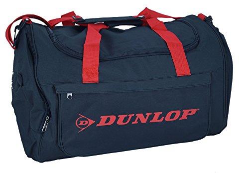 Bolsa de deporte Dunlop bolsa de viaje Fitness Entrenamiento de Fútbol Color Negro Rojo 60cm FA. bowatex