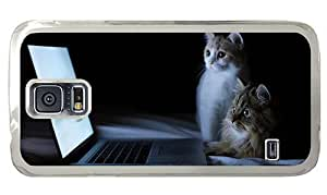 Hipster Samsung Galaxy S5 Case water proof Watching Together PC Transparent for Samsung S5
