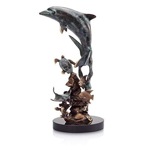 Bella Coastal Decor Cordial Dolphin Sculpture