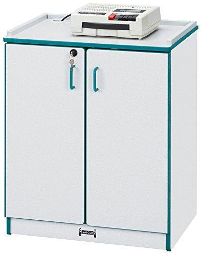 - Rainbow Accents 3305JCWW119 Media Cart, Lockable, Green