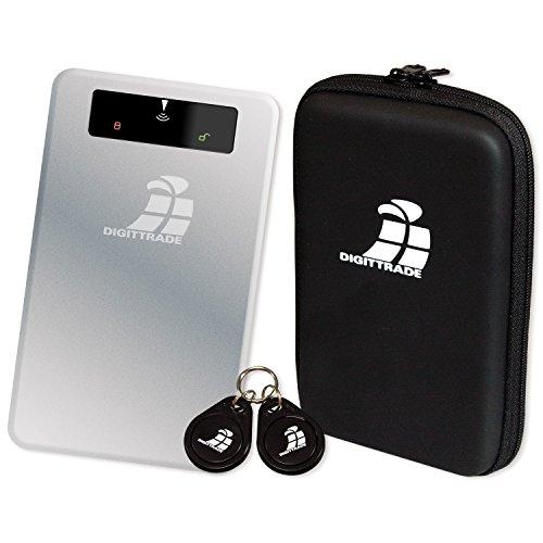 DIGITTRADE RS256 RFID Portable robuste externe Festplatte SSD 1TB (6,4cm (2,5 Zoll), USB 3.0) Anti-Shock Aluminium-Gehäuse mit Verschlüsselung silber