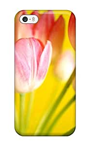 Tpu Fashionable Design Tulips Flowerss Rugged Case Cover For Iphone 5/5s New