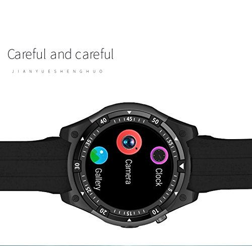 Amazon.com: Bond 3G Smart Watch Phone MTK6580 Android 5.1 Dual Core Heart Rate GPS WiFi Smartwatch for iOS&Android Phone Watch (RED): Cell Phones & ...