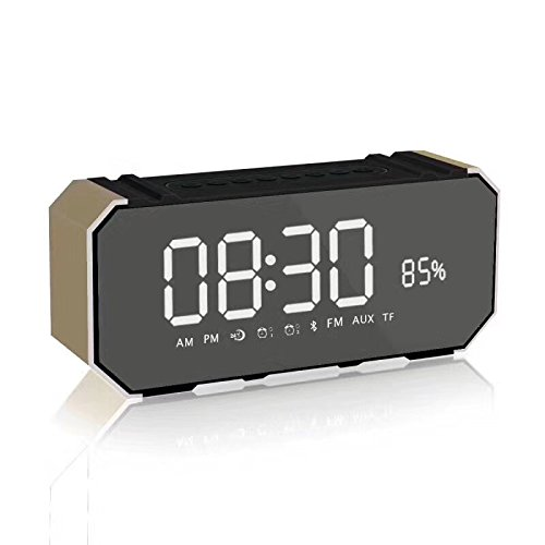 xingganglengyinBluetooth Speaker Mirror Wireless LED Time Alarm Phone Mobile Mini Portable Card Gift Subwoofer by xingganglengyin (Image #1)
