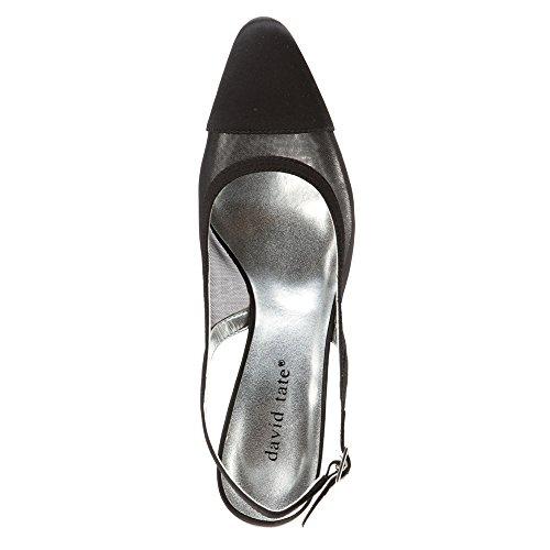 Navy heels Black WIDE Satin David Tate Mesh Satin Vegas X Women's Mesh 8 znUtvA