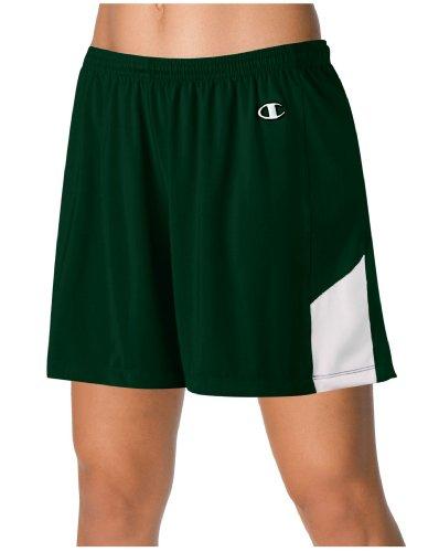 Kampioen Double Dry® Stretch Dames Lacrosse / Field Hockey Short # L531 Atletisch Donkergroen / Wit