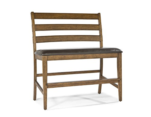 Clara Bench - Intercon ST-BS-889CB-BDY-K24 Santa Clara Ladder Back Bench with PU Seat, 24