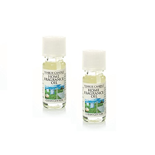 (Yankee Candle 2 Pack Clean Cotton Fragrance Oil .33 Oz.)
