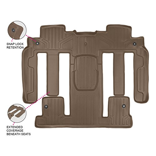 MAX LINER B1326 MAXFLOORMAT Floor Mats for Enclave/Acadia/Outlook Bucket Seat Covers Second and Third Row (Tan) (Seats Row Bucket Second)
