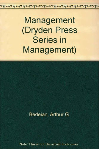 Management (Dryden Press Series in Management)