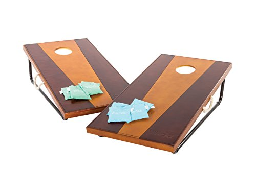 Viva Sol 2'x4' Bean Bag Toss Game Includes 2 Premium All-Wood Bean Bag Toss Boards and 8 All-Weather Canvas Bean Bags
