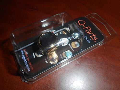 Q-Parts Mini Dome Knob, BLACK PEARL ON GOLD
