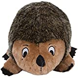 Outward Hound Kyjen  32026 Hedgehogz Dog Toys Plush Rattle Grunt and Squeak Toy, Extra Large, Brown
