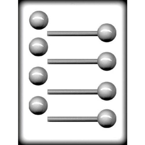 BALL 3D SUCKER HARD CANDY MOLD - 8H-6221 -