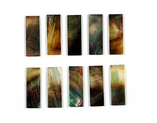 - Black Abalone Rectangle Inlay Block 10 Pieces