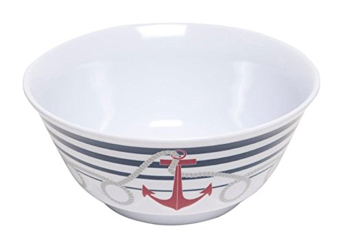 Galleyware Dockside Melamine Non-Skid Soup/Cereal Bowl, Set Of 4