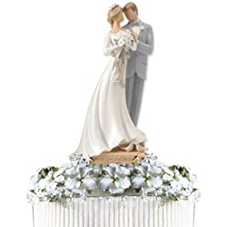 Enesco Legacy of Love Wedding Bride and Groom Newlywed Cake Topper