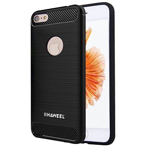 Phone Taschen & Schalen Für iPhone 6 Plus / 6s Plus, gebürsteter Carbon Fiber Texture Shockproof TPU Schutzhülle ( : For iphone 6 plus+6s plus )