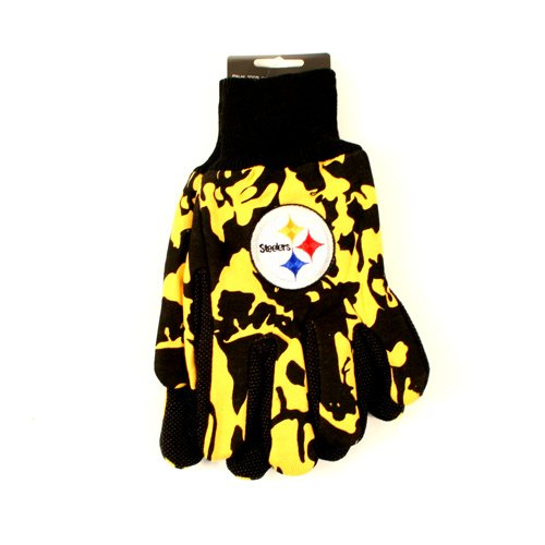 NFL Licensed Team Color Camouflage Sport Utility Grip Gloves (Pittsburgh Steelers)