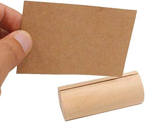 SNOWINSPRING 50X Antiker Holz Karten Halter Holz Rinden Noten Halter Kann Tisch Nummer Stehen Name Hochzeits Feier Restaurant Party Zeichen