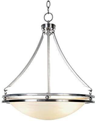 AF Lighting Contemporary Fluorescent Lighting Collection Chandelier, Brushed Nickel