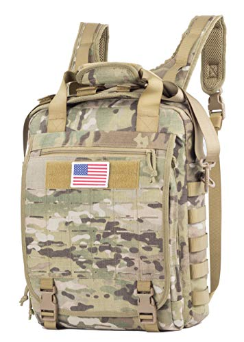 - Xmilpax Military Camouflage Laptop Backpack Army Messenger Bag Tactical Camo Sling Pack MOLLE Panel as Outdoors and Urban Every Day Carry Bag College School Backpack Travel Bookbag (Multicam)