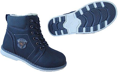 Boots Gr 31 26 Winter blau d 2724 Nr Jungen Art Kinder Schuhe Warmfutter OZcx1R