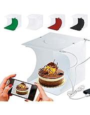 Mini Light Box RabbitStorm Estudio Fotografico Portatil, Caja de Luz para Estudio Fotográfico Portátil Semi Profesional, Kit para Fotografía de Producto con 2 Tiras LED Ajustable 40Leds y 2 USB y 6 Fondos de Colores (40*40*40cm)