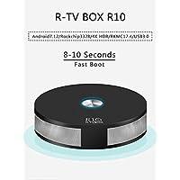 R-TV BOX R10 4G DDR4 RAM 64G ROM Rockchip RK3328 Android 7.1.2 Quad-Core 4K UHD USB 3.0 Dual WiFi AC 2T2R BT4.1 H.265 TV Box Media Player