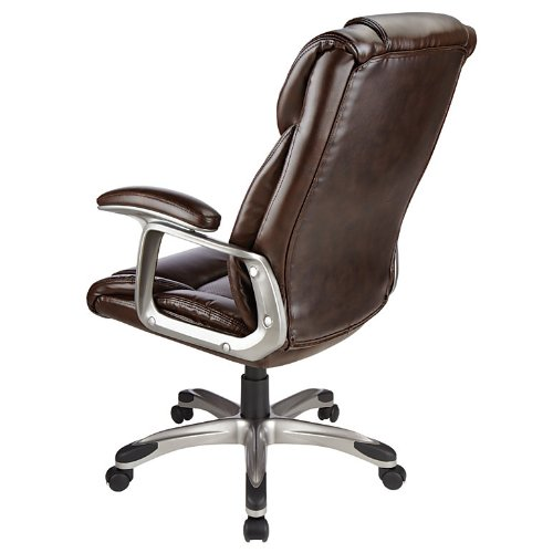 Realspace R Salsbury High Back Chair Dark Brown Black