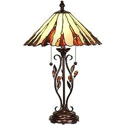 "Dale Tiffany TT90178 Ripley Table Lamp, Antique Golden, 18"" x 18"" x 27.5"", Sand"
