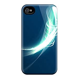 Premium Blue Abstract Back Cover Snap On Case For Iphone 4/4s