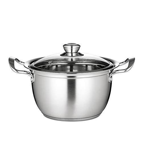 20 CM 304 Stainless Steel Soup Pots Thickened Mini Cookware Cooker Stock Pots 20 cm